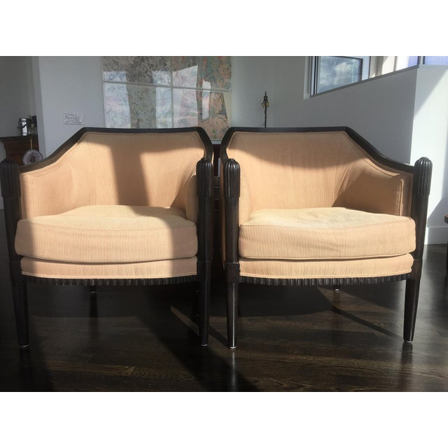 Art deco style lounge chairs a pair chairish for Art deco style lounge