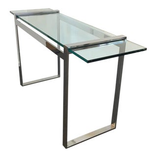 Nickel and Glass Console Table by Charles Hollis Jones