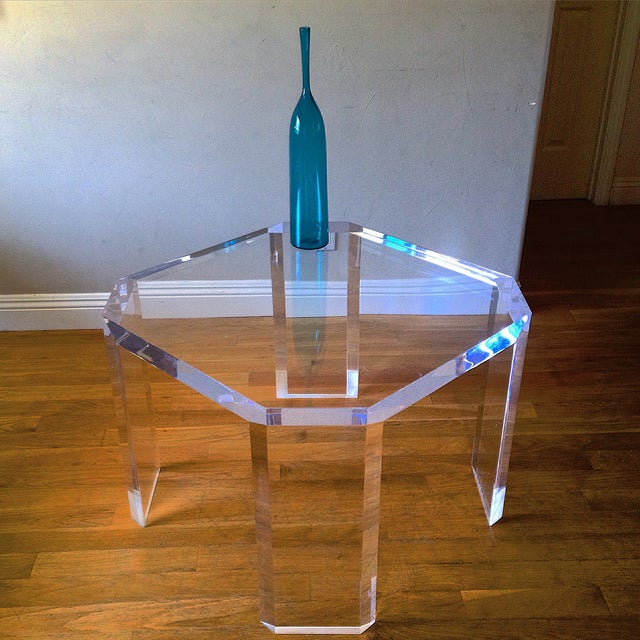 Charles Hollis Jones Vintage Lucite Side Table - Image 3 of 7