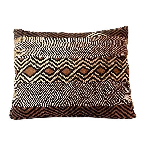 African Kuba Raffia Pillow - Image 1 of 7