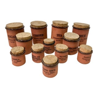 Vintage English Fortnum & Mason Canisters - Set of 12