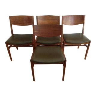 Mid-Century Modern Walnut Gunlocke Chairs
