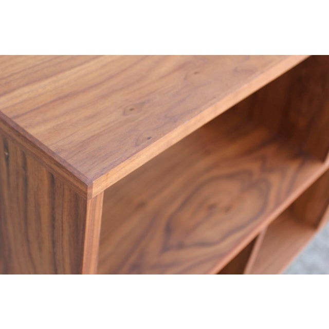 Modern Walnut Bookcase Shelf - Image 9 of 10