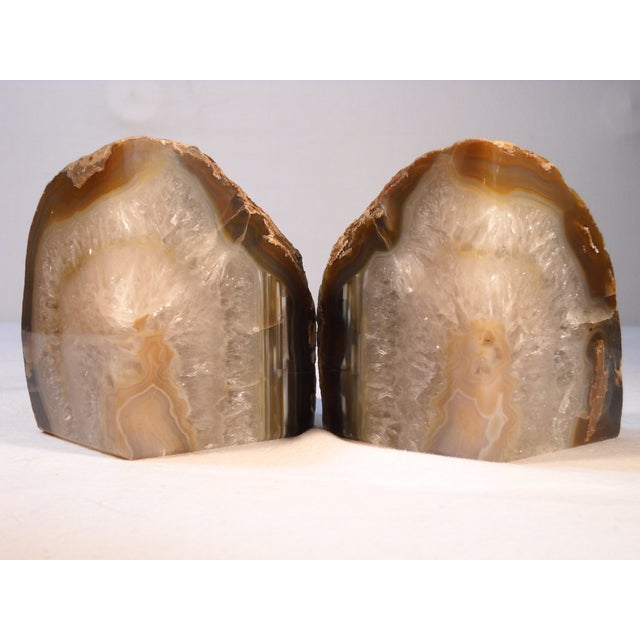 Quartz crystal geode bookends a pair chairish - Geode bookends ...