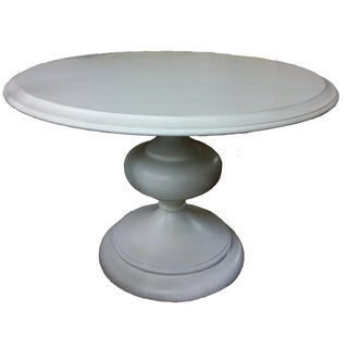 "Sale! New White Bassett 48"" Round Dining Table"