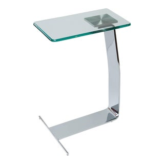 Design Institute of America Chrome and Glass Drink Table