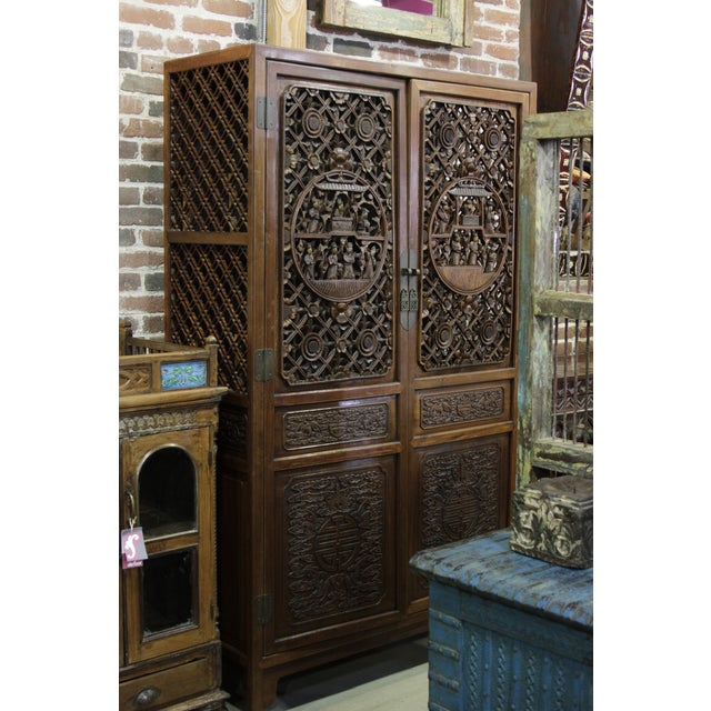 Mid 20th Century Asian Armoire - Image 5 of 8