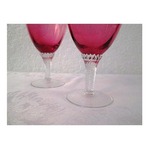 Vintage Raspberry & Honey Wine Glasses - S/4 - Image 4 of 6