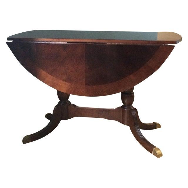 Image of Vintage Round Drop Leaf Table