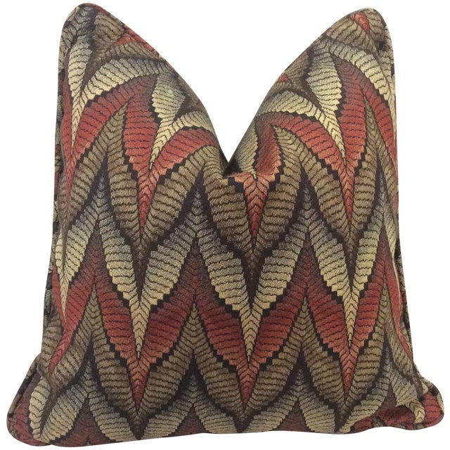 Tapestry Upholstered Pillow - Image 1 of 7