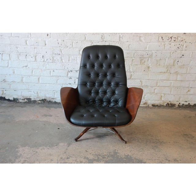 """George Mulhauser for Plycraft """"Mr. Chair"""" and Ottoman - Image 4 of 10"""