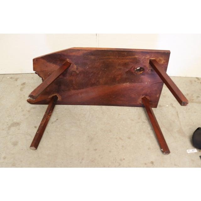 Inscribed Handmade Live Edge Coffee Table - Image 6 of 8