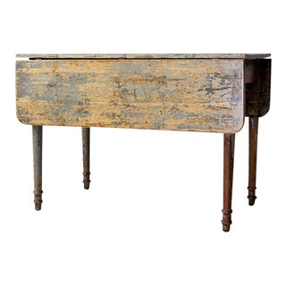 Antique Primitive Drop Leaf Table