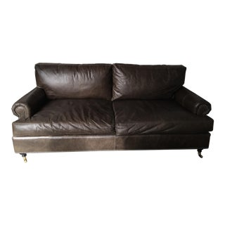 Custom Leather Sofa by Of Iron and Oak