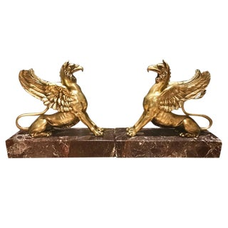 Pair of Regency Bronze Griffins