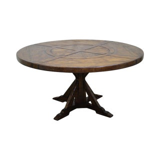 Jonathan Charles Round Casually Country Walnut Dining Table