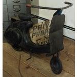Image of Antique Black Metal Manual Pedal Scooter Bike