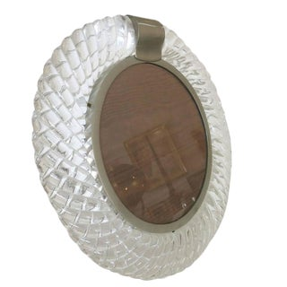 Handblown Murano Glass Frame or Vanity Mirror by Seguso