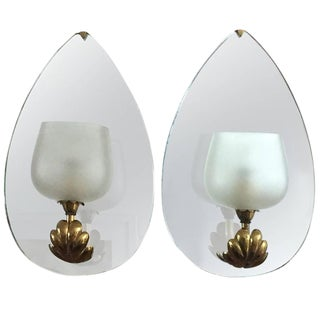 1935 Fontana Arte Mirrored Sconces - a Pair