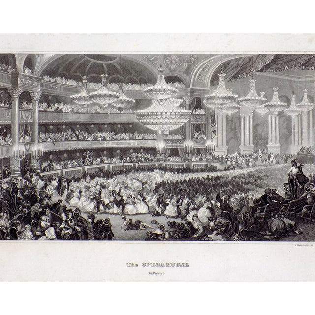 """""""The Opera House in Paris"""" 1855 Engraving - Image 2 of 6"""