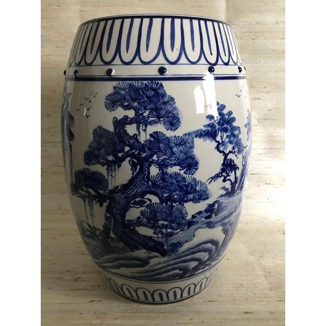 Antique Chinoiserie Ceramic Garden Stool - Image 5 of 6