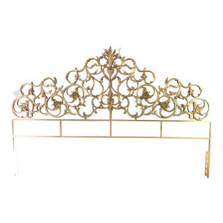 Vintage Metal Scroll Headboard