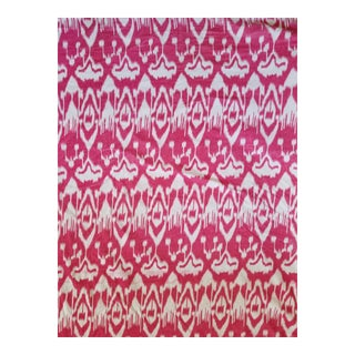 Cotton Velvet Ikat Fabric. 3yds