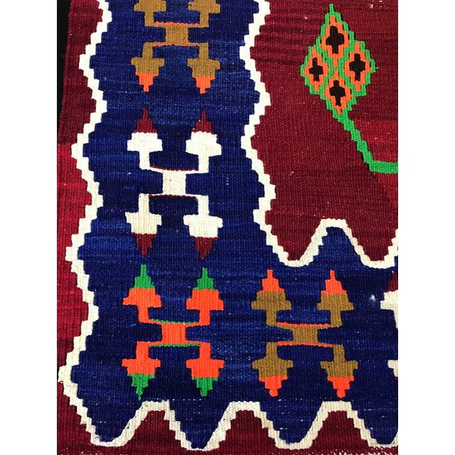Vintage Handwoven Turkish Kilim Rug - 2'11''x4'8'' - Image 3 of 5