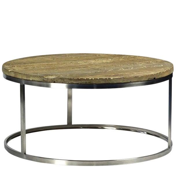 Barn Wood Chrome Coffee Table Chairish