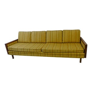 Mid-Century Modern Walnut Couch
