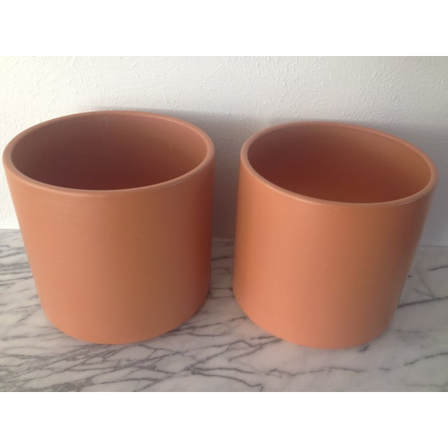 Image of Large Mid-Century Gainey Ceramics Planters - Pair