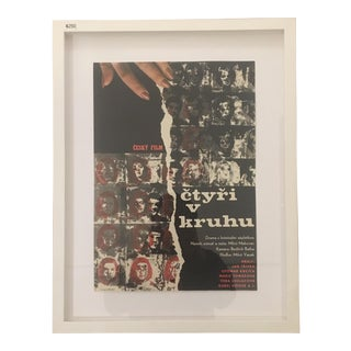 Vintage Czech Film Framed Print