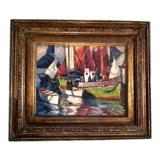Nautical Oil Painting, Signed