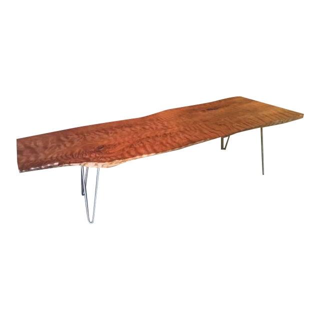 Burl Coffee Table Legs: Live Edge Redwood Burl Coffee Table Bench