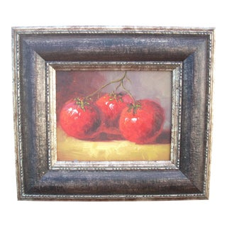 Three Tomatoes Oil on Canvas