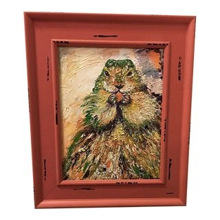 "Nancy Van Ness ""Beaver"" Oil Painting"