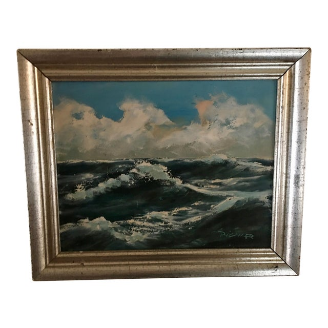 Original Seascape Oil Painting - Image 1 of 6