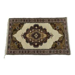 Hand-Knotted Vintage Turkish Oushak Area Rug - 3' x 4'10""