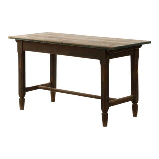 Antique English Pine Tenon Mortised Work Table