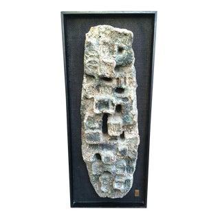 Brutalist Abstract 3D Wall Sculpture Art
