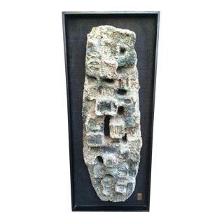Brutalist Abstract 3D Wall Sculpture Art