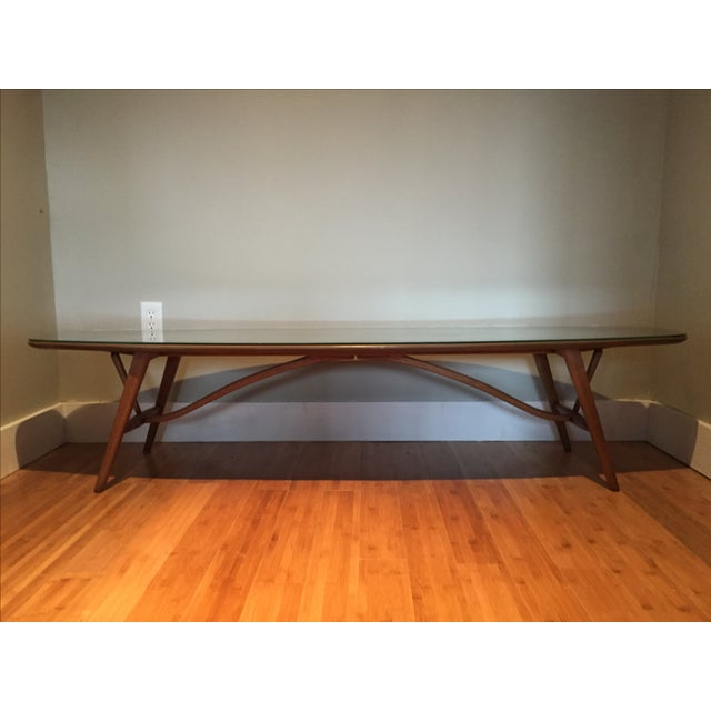 Vintage Mid-Century Drexel Surfboard Coffee Table