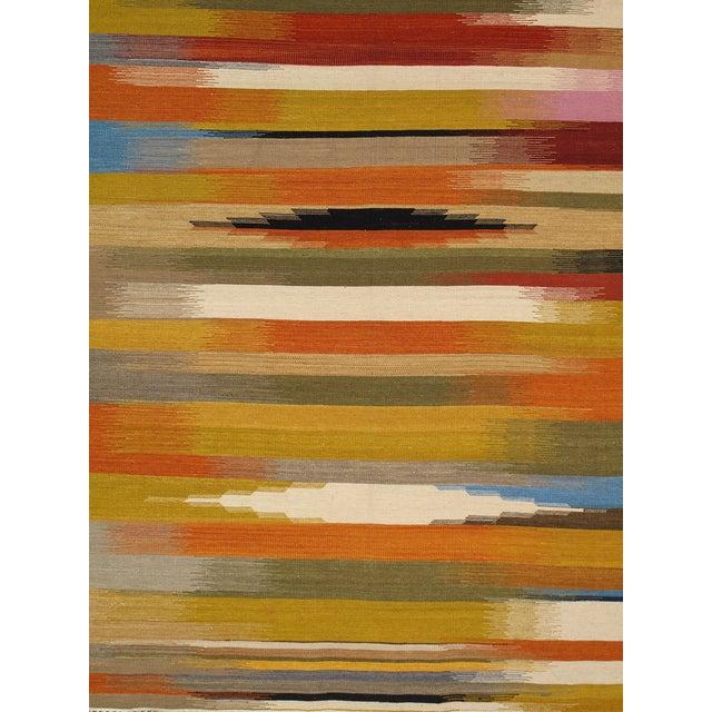 Modern Reversable Yellow Wool Kilim - 5' x 8' - Image 2 of 4