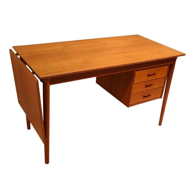 Arne Vodder Mid-Century Danish Teak Drop Leaf Desk - Image 1 of 10