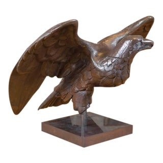 Beautifully Carved Oak Eagle on Later Stand, German, circa 1870