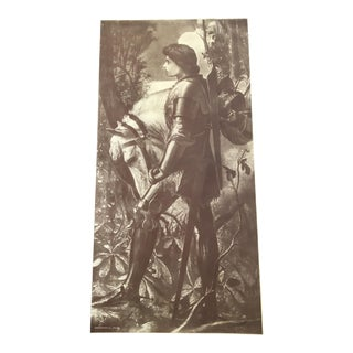 """Sir Galahad"" Engraving by George Frederic Watts"