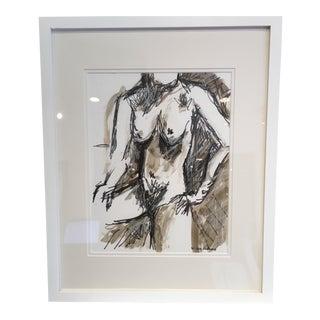 Joe Adams Framed Original Nude