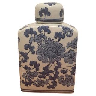 Vintage Asian Blue & White Lidded Ginger Jar