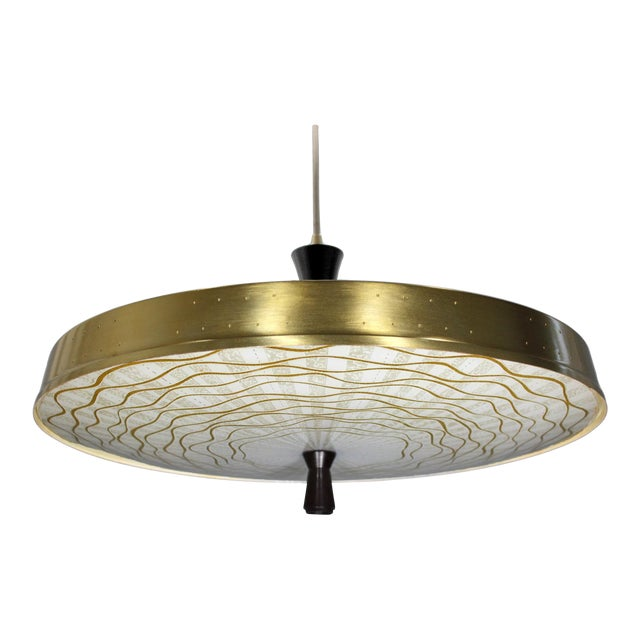 Classic 50s Pendant With Murano Glass Shade - Image 1 of 6
