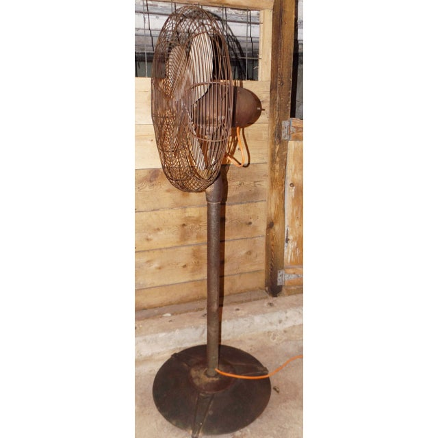 """Image of Big Old Hunter Industrial Pedistal Fan 5' 8"""" Tall"""